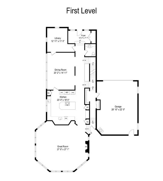 Real Estate Photography - 807 Forest Ave, River Forest, IL, 60305 - Floor Plan