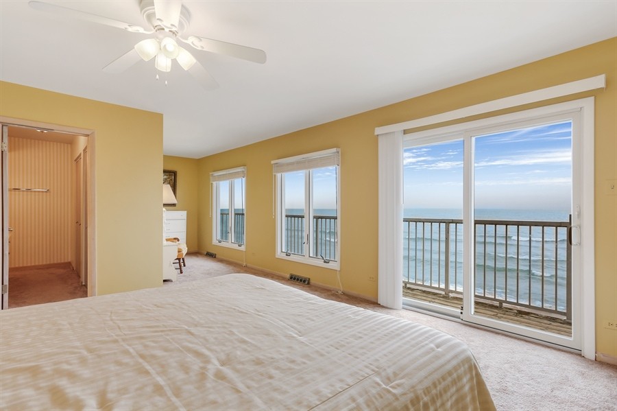 Real Estate Photography - 3040 Lake Shore Drive, Long Beach, IN, 46360 - Master Bedroom