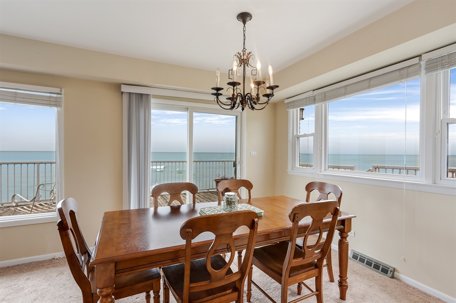 Real Estate Photography - 3040 Lake Shore Drive, Long Beach, IN, 46360 - Dining Room