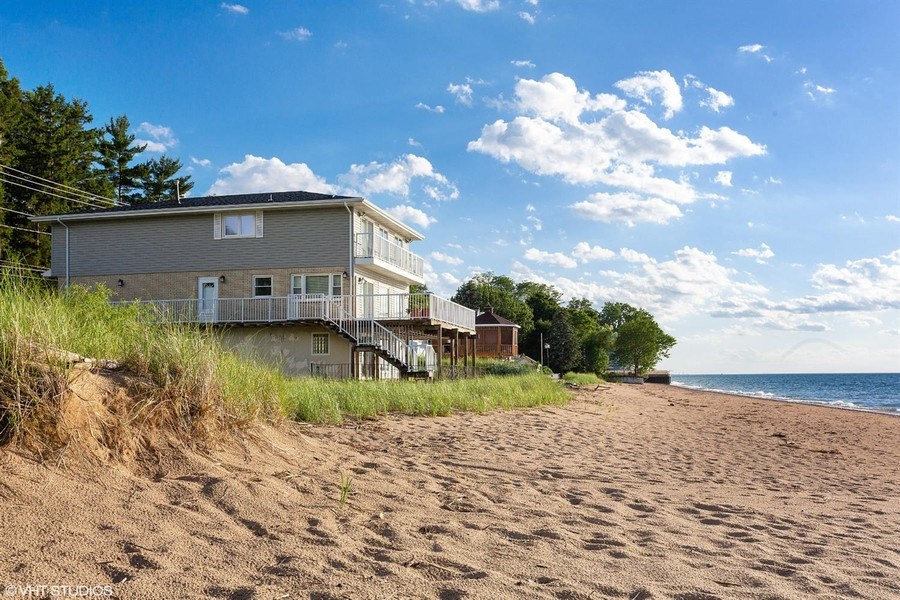 Real Estate Photography - 3040 Lake Shore Drive, Long Beach, IN, 46360 - Front View