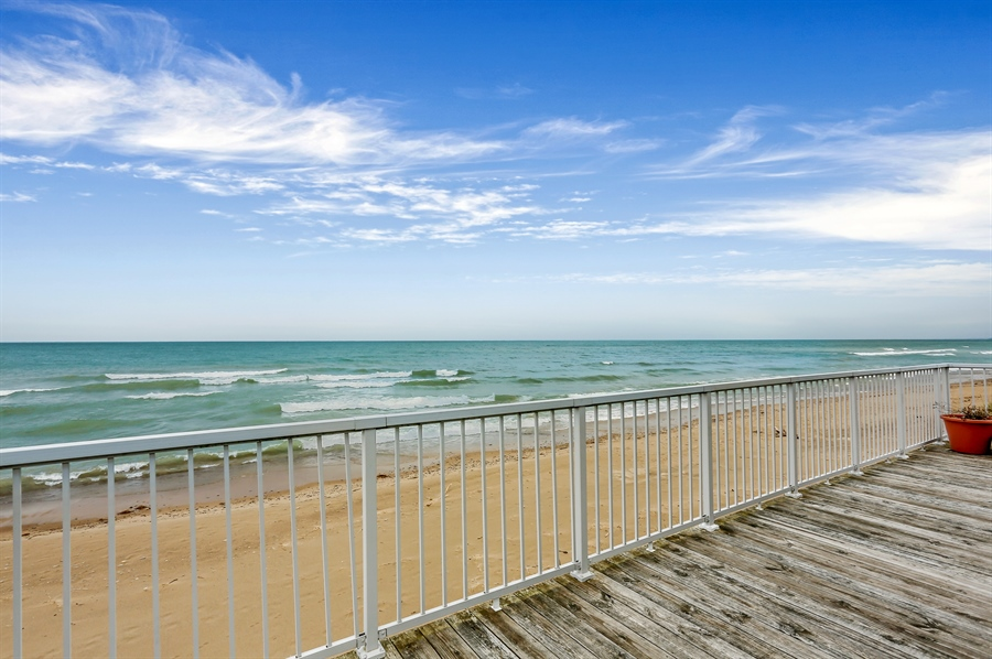 Real Estate Photography - 3040 Lake Shore Drive, Long Beach, IN, 46360 - Deck