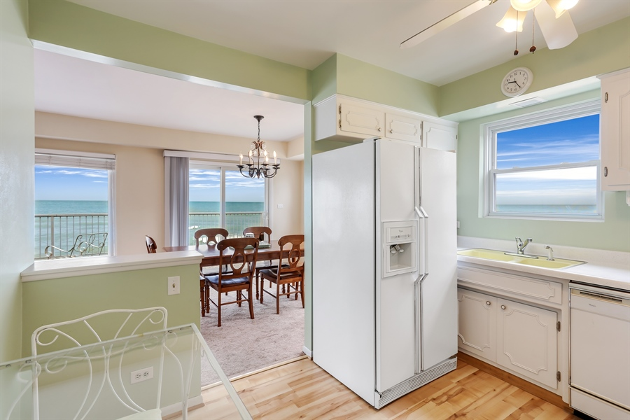 Real Estate Photography - 3040 Lake Shore Drive, Long Beach, IN, 46360 - Kitchen / Dining Room