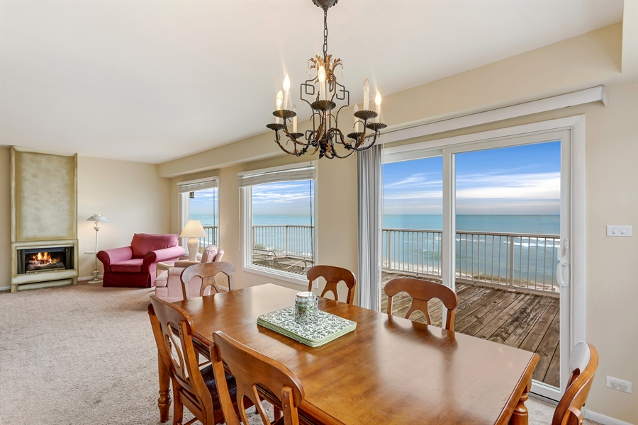 Real Estate Photography - 3040 Lake Shore Drive, Long Beach, IN, 46360 - Living Room/Dining Room