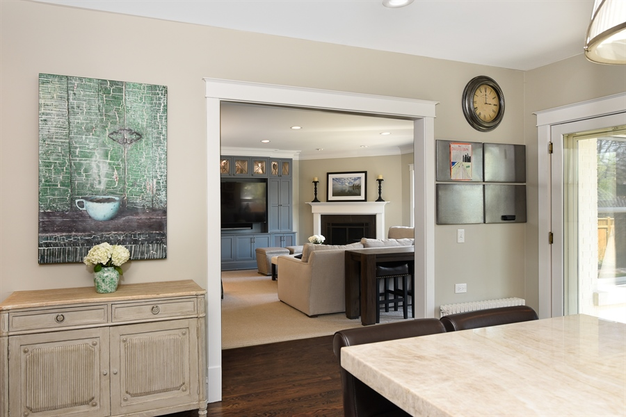 Real Estate Photography - 1133 Ashland, Wilmette, IL, 60091 - Family Room View