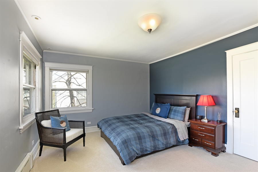 Real Estate Photography - 1133 Ashland, Wilmette, IL, 60091 - Third Bedroom