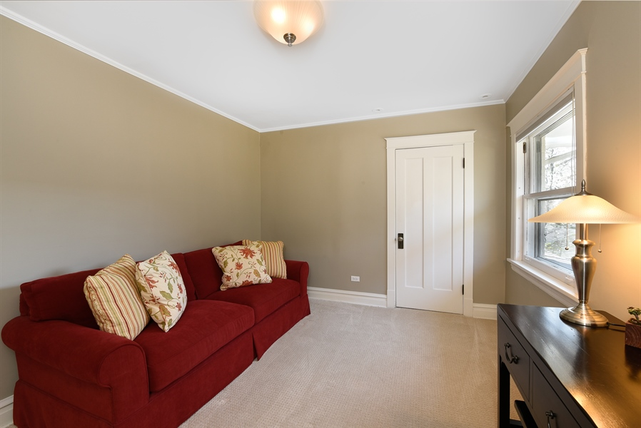 Real Estate Photography - 1133 Ashland, Wilmette, IL, 60091 - Fourth Bedroom / Office