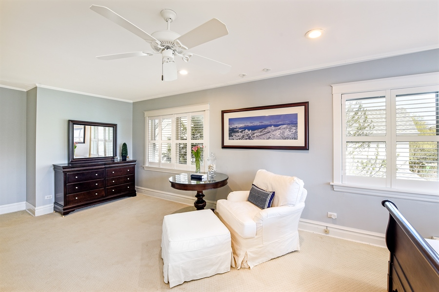 Real Estate Photography - 1133 Ashland, Wilmette, IL, 60091 - Master Bedroom View