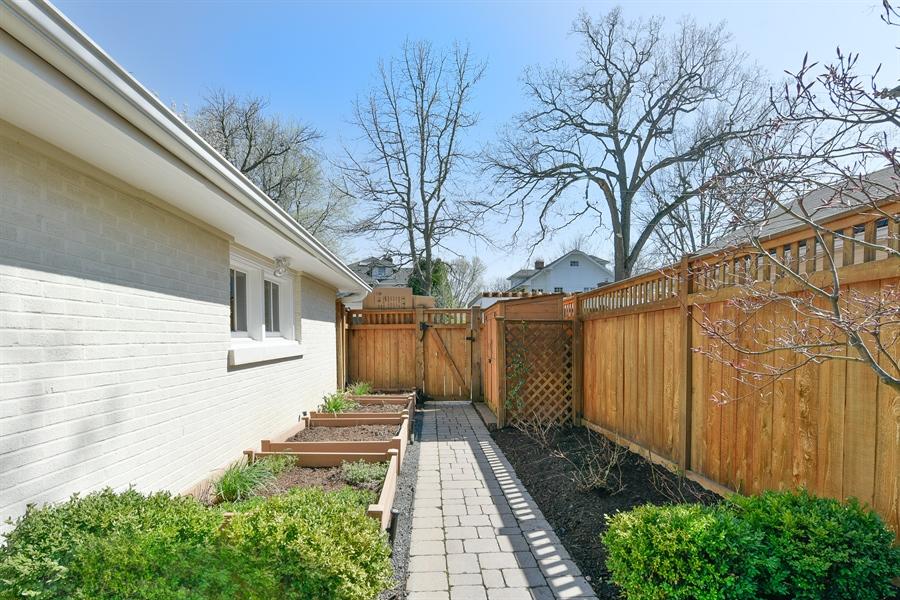 Real Estate Photography - 1133 Ashland, Wilmette, IL, 60091 - Backyard Pathway & Vegetable Gardens