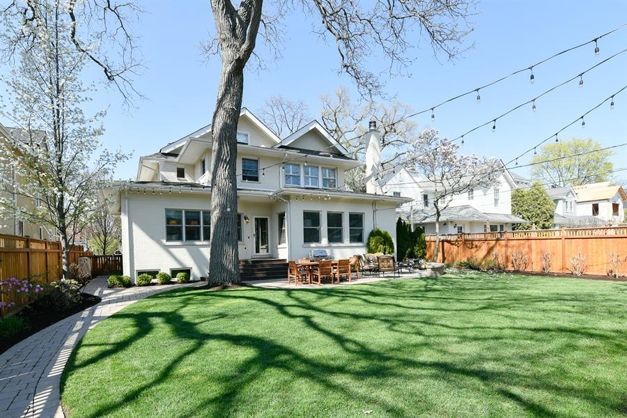 Real Estate Photography - 1133 Ashland, Wilmette, IL, 60091 - Backyard View