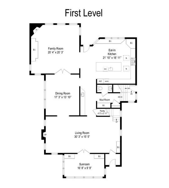 Real Estate Photography - 1133 Ashland, Wilmette, IL, 60091 - Floor Plan