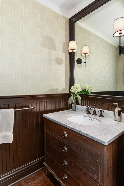 Real Estate Photography - 1133 Ashland, Wilmette, IL, 60091 - Powder Room