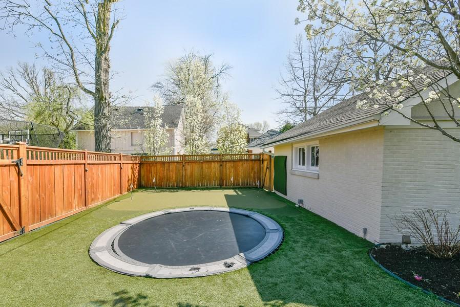 Real Estate Photography - 1133 Ashland, Wilmette, IL, 60091 - Backyard View w / Putting Green & Trampoline