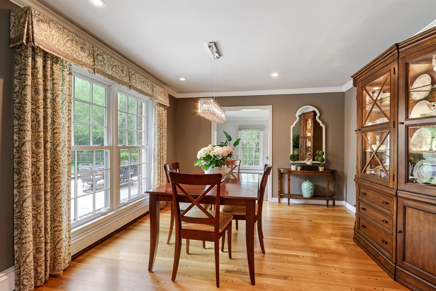 Real Estate Photography - 586 Meadowood Dr, Lake Forest, IL, 60045 - Dining Room