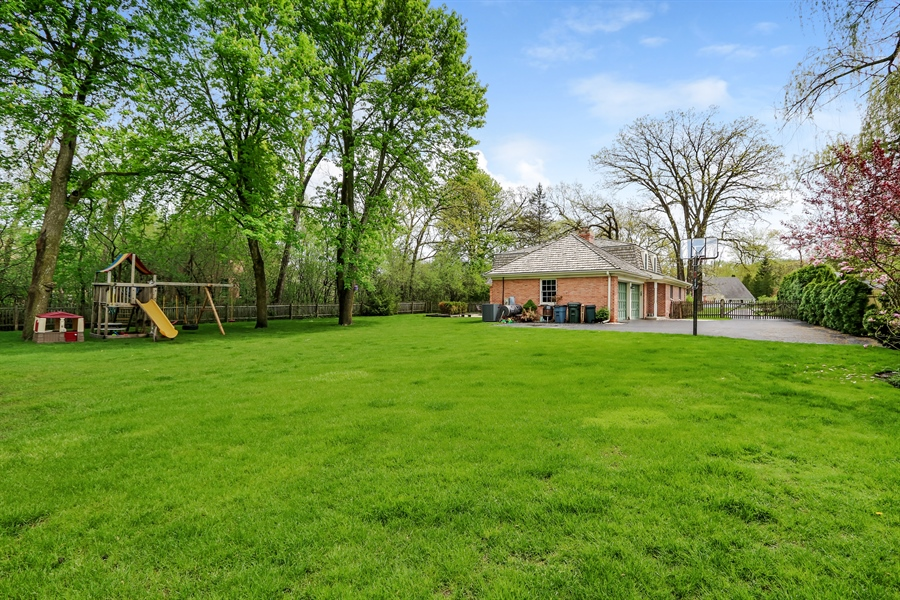 Real Estate Photography - 586 Meadowood Dr, Lake Forest, IL, 60045 - Back Yard