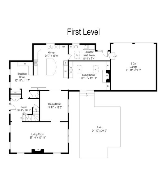Real Estate Photography - 586 Meadowood Dr, Lake Forest, IL, 60045 - Floor Plan