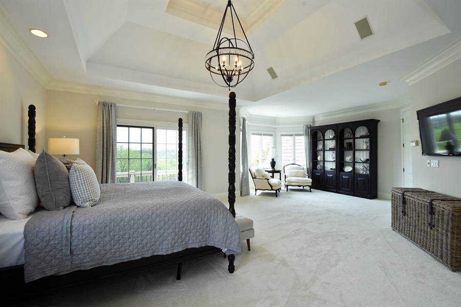 Real Estate Photography - 9 Hubbell Ct, Barrington Hills, IL, 60010 - Master Bedroom