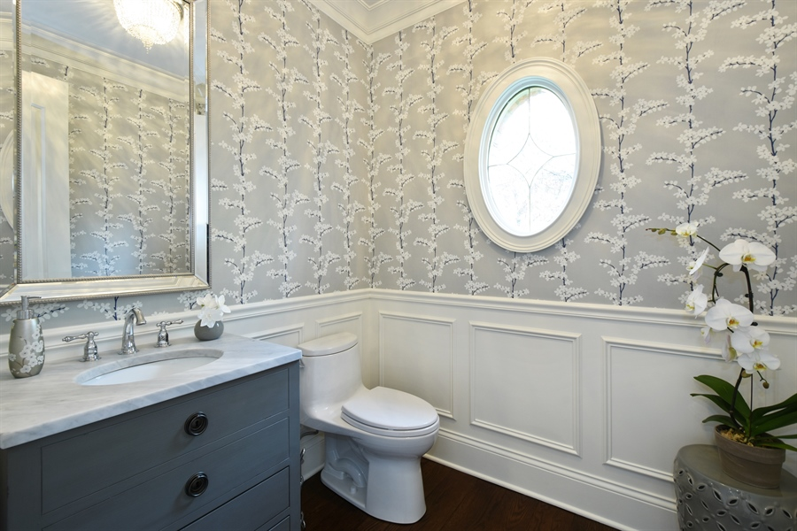 Real Estate Photography - 9 Hubbell Ct, Barrington Hills, IL, 60010 - Powder Room