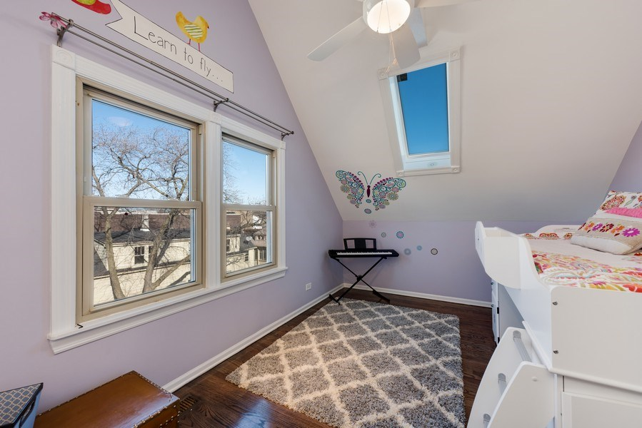 Real Estate Photography - 2127 W School St, Chicago, IL, 60618 - 2nd Bedroom