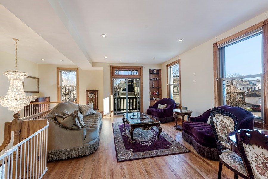 Real Estate Photography - 2127 W School St, Chicago, IL, 60618 - Living Room