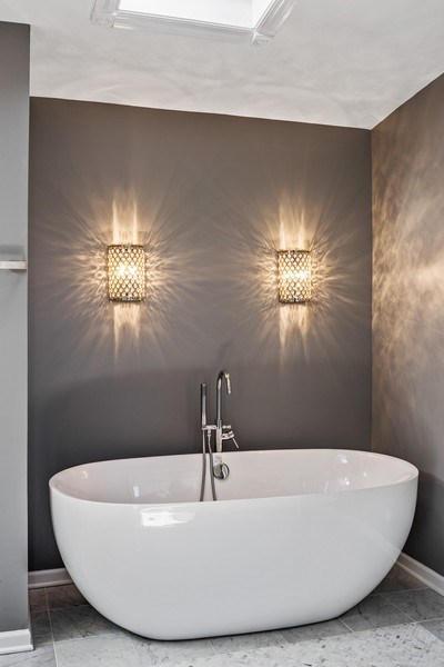 Real Estate Photography - 2127 W School St, Chicago, IL, 60618 - Master Bathroom