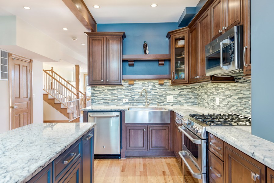 Real Estate Photography - 2127 W School St, Chicago, IL, 60618 - Kitchen