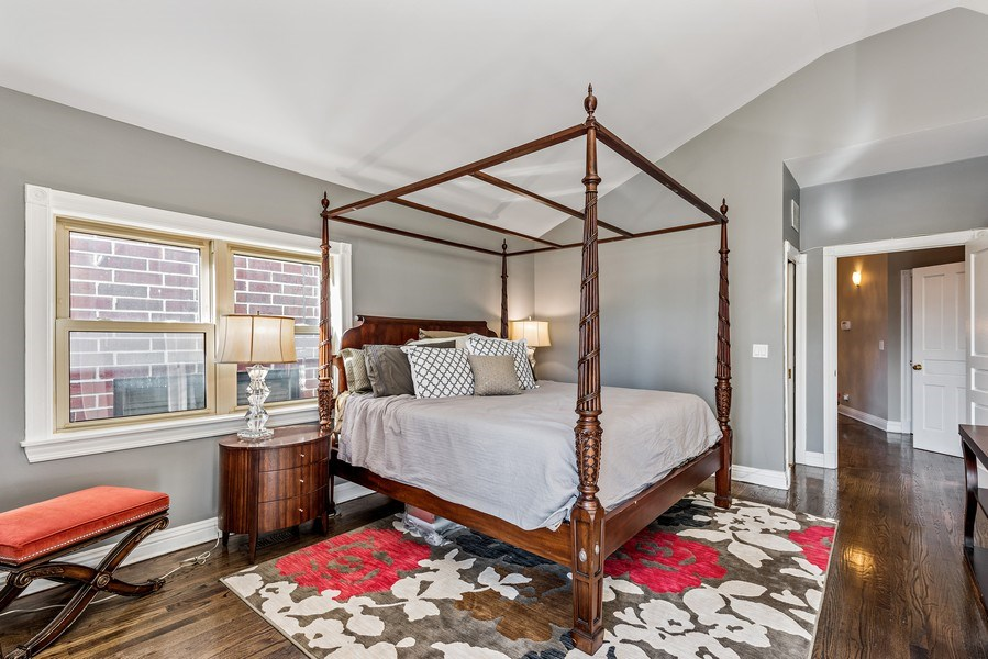 Real Estate Photography - 2127 W School St, Chicago, IL, 60618 - Master Bedroom