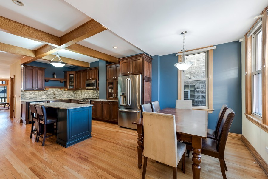 Real Estate Photography - 2127 W School St, Chicago, IL, 60618 - Kitchen / Breakfast Room