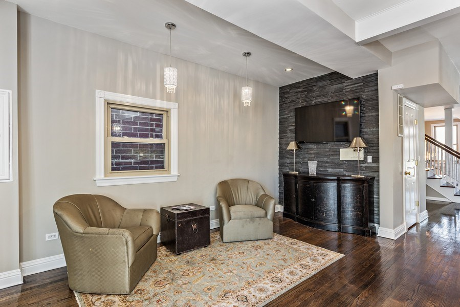 Real Estate Photography - 2127 W School St, Chicago, IL, 60618 - Sitting Room