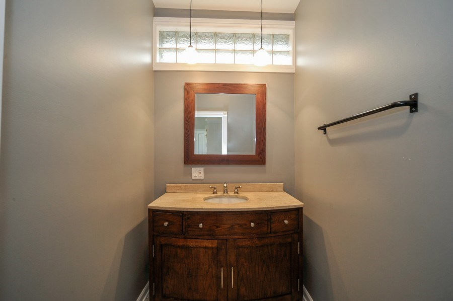 Real Estate Photography - 2127 W School St, Chicago, IL, 60618 - Powder Room