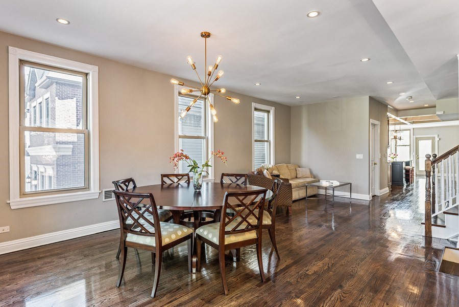 Real Estate Photography - 2127 W School St, Chicago, IL, 60618 - Dining Area