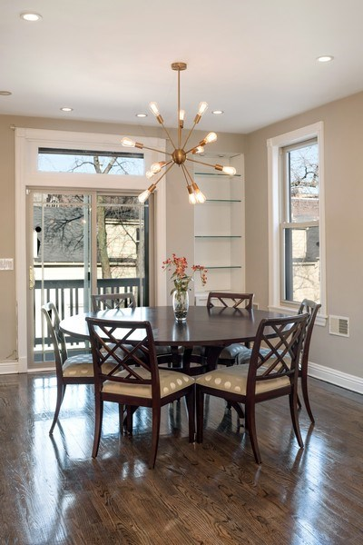 Real Estate Photography - 2127 W School St, Chicago, IL, 60618 - Dining Room