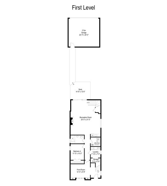 Real Estate Photography - 2127 W School St, Chicago, IL, 60618 - Floor Plan