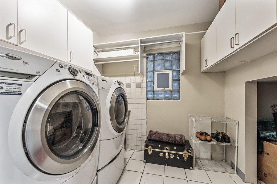 Real Estate Photography - 2127 W School St, Chicago, IL, 60618 - Laundry Room