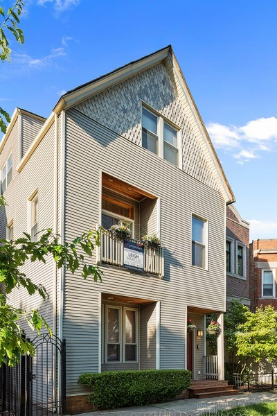 Real Estate Photography - 2127 W School St, Chicago, IL, 60618 - Front View