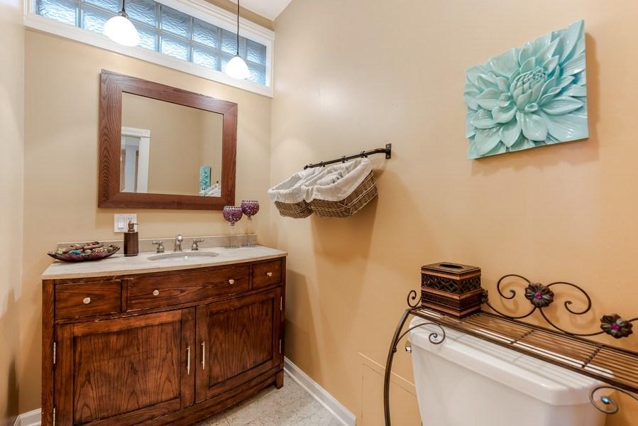 Real Estate Photography - 2127 W School St, Chicago, IL, 60618 - Half Bath