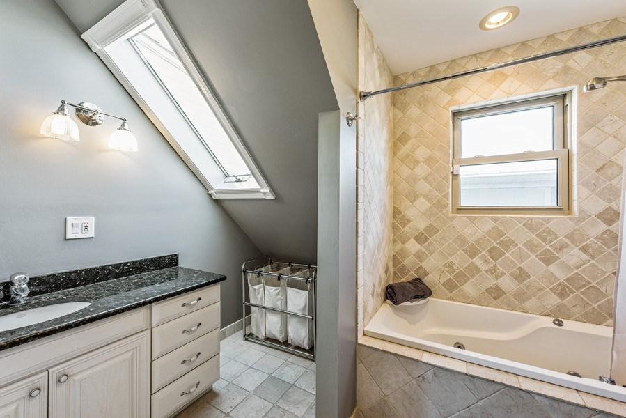 Real Estate Photography - 2127 W School St, Chicago, IL, 60618 - Bathroom