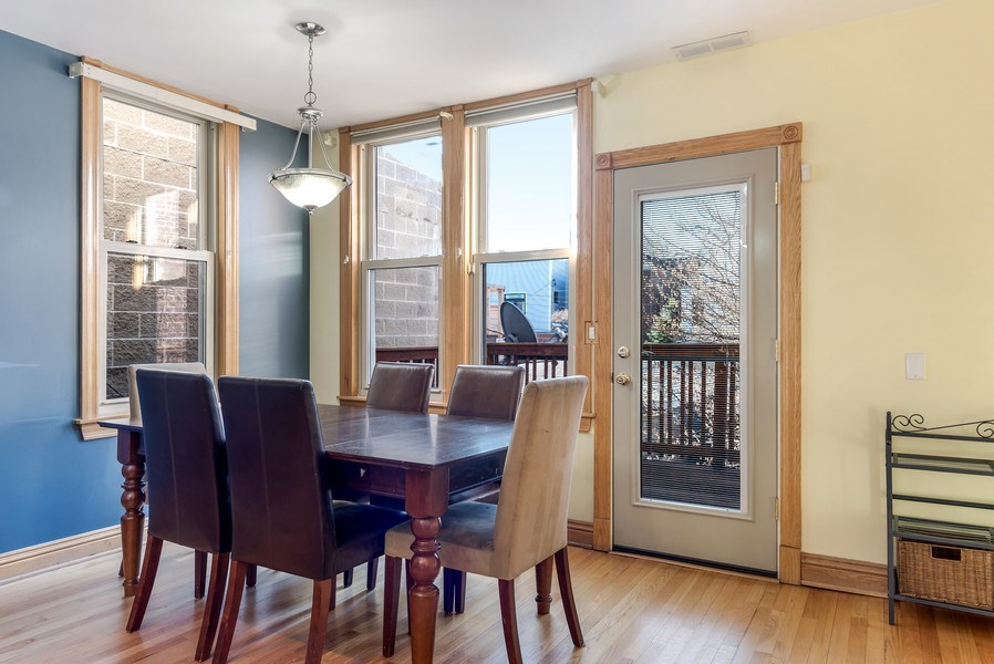 Real Estate Photography - 2127 W School St, Chicago, IL, 60618 - Breakfast Nook