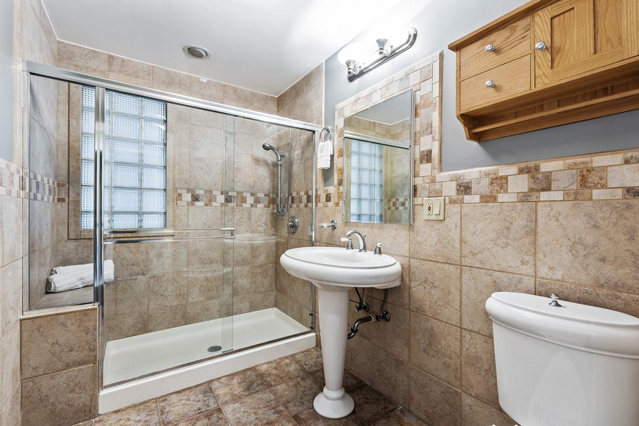 Real Estate Photography - 2127 W School St, Chicago, IL, 60618 - 2nd Bathroom