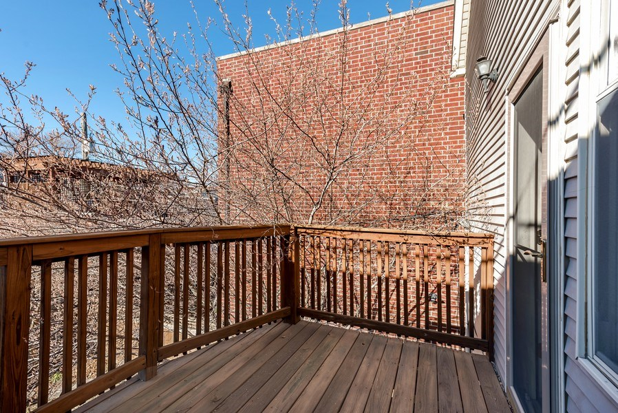 Real Estate Photography - 2127 W School St, Chicago, IL, 60618 - Balcony