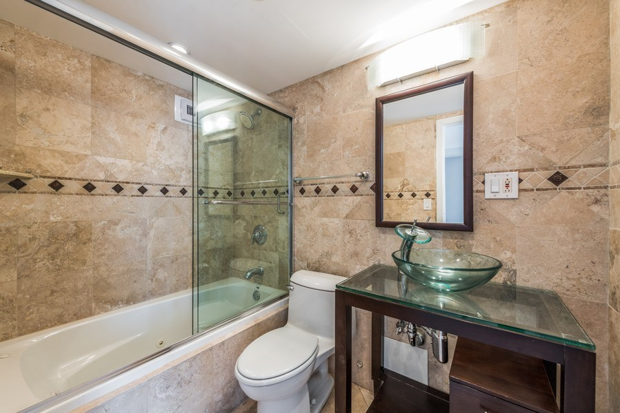 Real Estate Photography - 1540 N State St, Unit 15B, Chicago, IL, 60610 - Master Bathroom