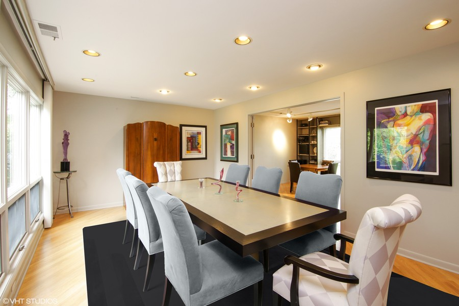 Real Estate Photography - 1930 Phillips, Northbrook, IL, 60062 - Dining Room with view to Library