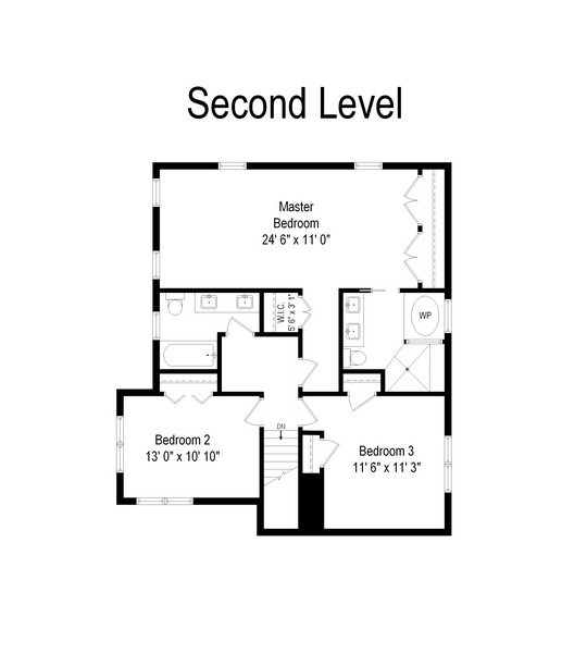 Real Estate Photography - 305 16th St, Wilmette, IL, 60091 - Floor Plan