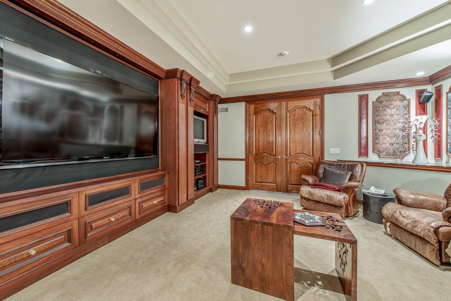 Real Estate Photography - 67 Laurel, Highland Park, IL, 60035 - Media Room