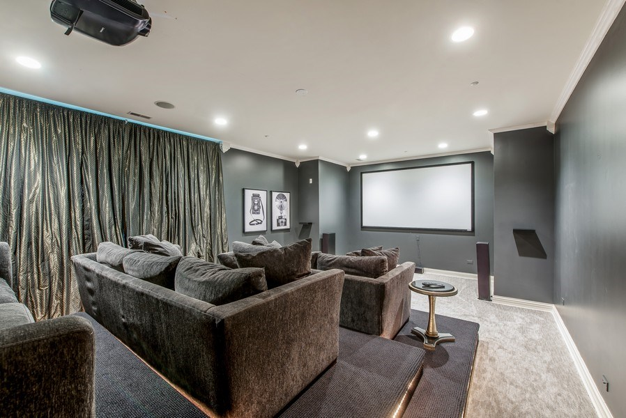 Real Estate Photography - 67 Laurel, Highland Park, IL, 60035 - Theater