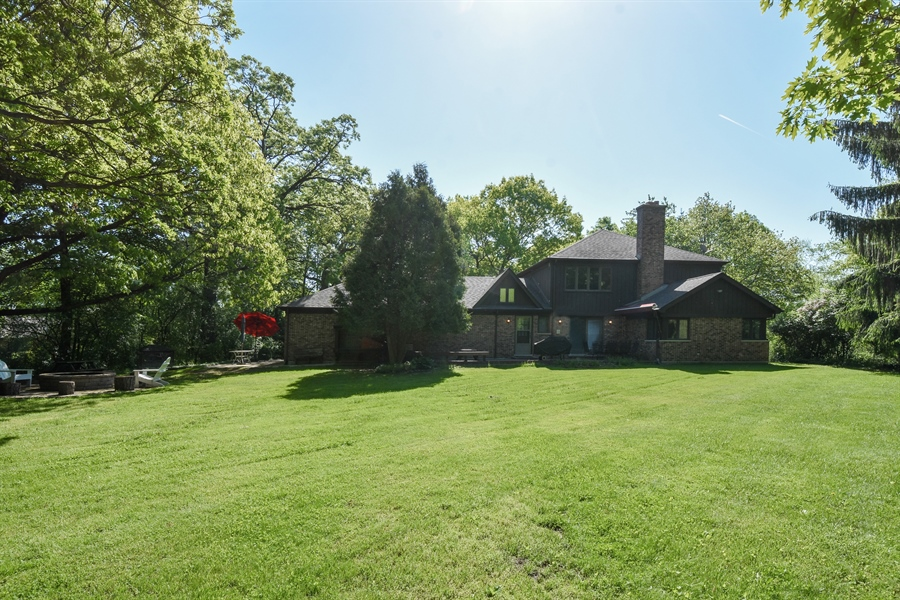 Real Estate Photography - 120 Hidden Oaks Dr, Barrington, IL, 60010 - Rear View