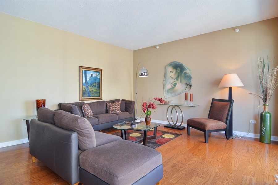 Real Estate Photography - 545 N Dearborn St, Apt 3502, Chicago, IL, 60654 - Living Room