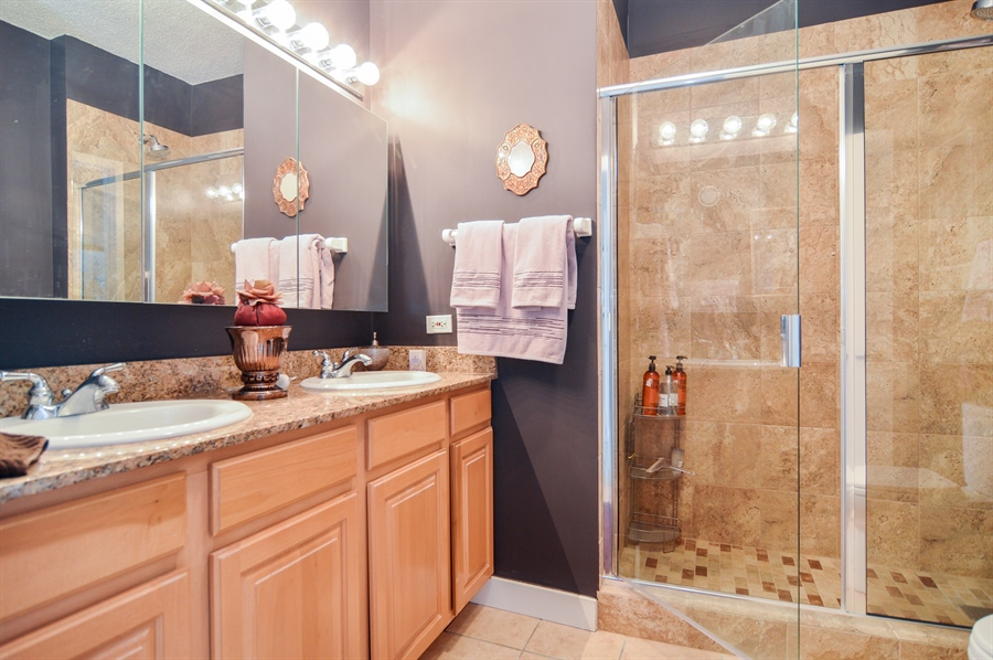 Real Estate Photography - 545 N Dearborn St, Apt 3502, Chicago, IL, 60654 - Master Bathroom