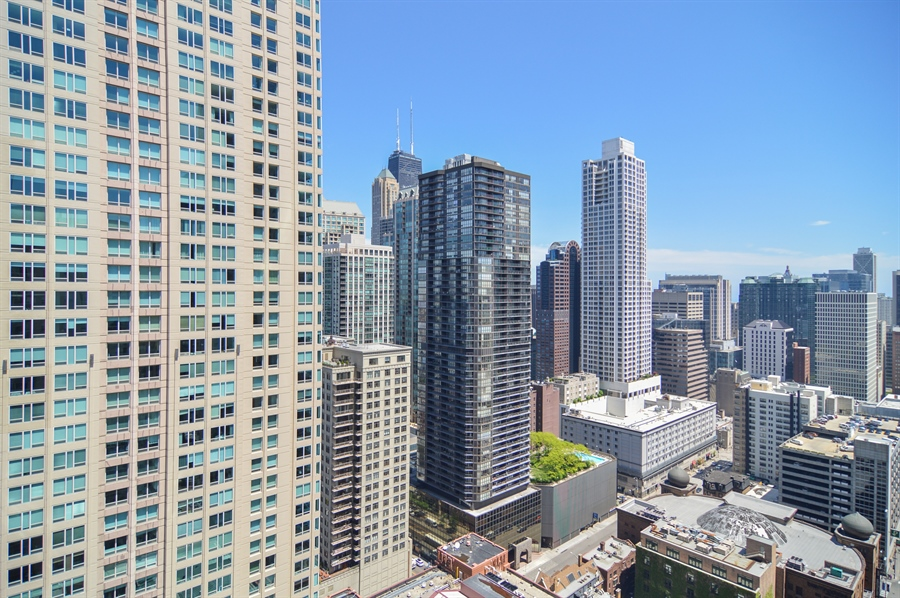 Real Estate Photography - 545 N Dearborn St, Apt 3502, Chicago, IL, 60654 - View