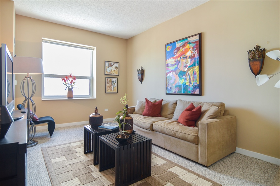 Real Estate Photography - 545 N Dearborn St, Apt 3502, Chicago, IL, 60654 - 2nd Bedroom