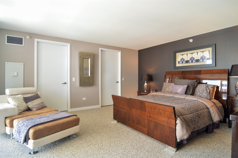 Real Estate Photography - 545 N Dearborn St, Apt 3502, Chicago, IL, 60654 - Master Bedroom